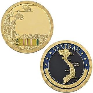 YWJHY Regalo de Recuerdo de la Guerra de Vietnam de la Colección Vietnamita de Plata,Dorado,Un tamaño