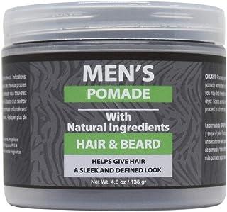 Okay men's natural hair gel pomade 4.8 ounce, Gray, 4.8 Ounce (Okay-MENANPOM4)