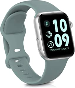 GeekSpark Sport Band Compatible with Apple Watch Band 38mm 40mm 42mm 44mm for Women Men, Soft Silicone Replacement Strap Band for iwatch SE/Series 6/5/4/3/2/1