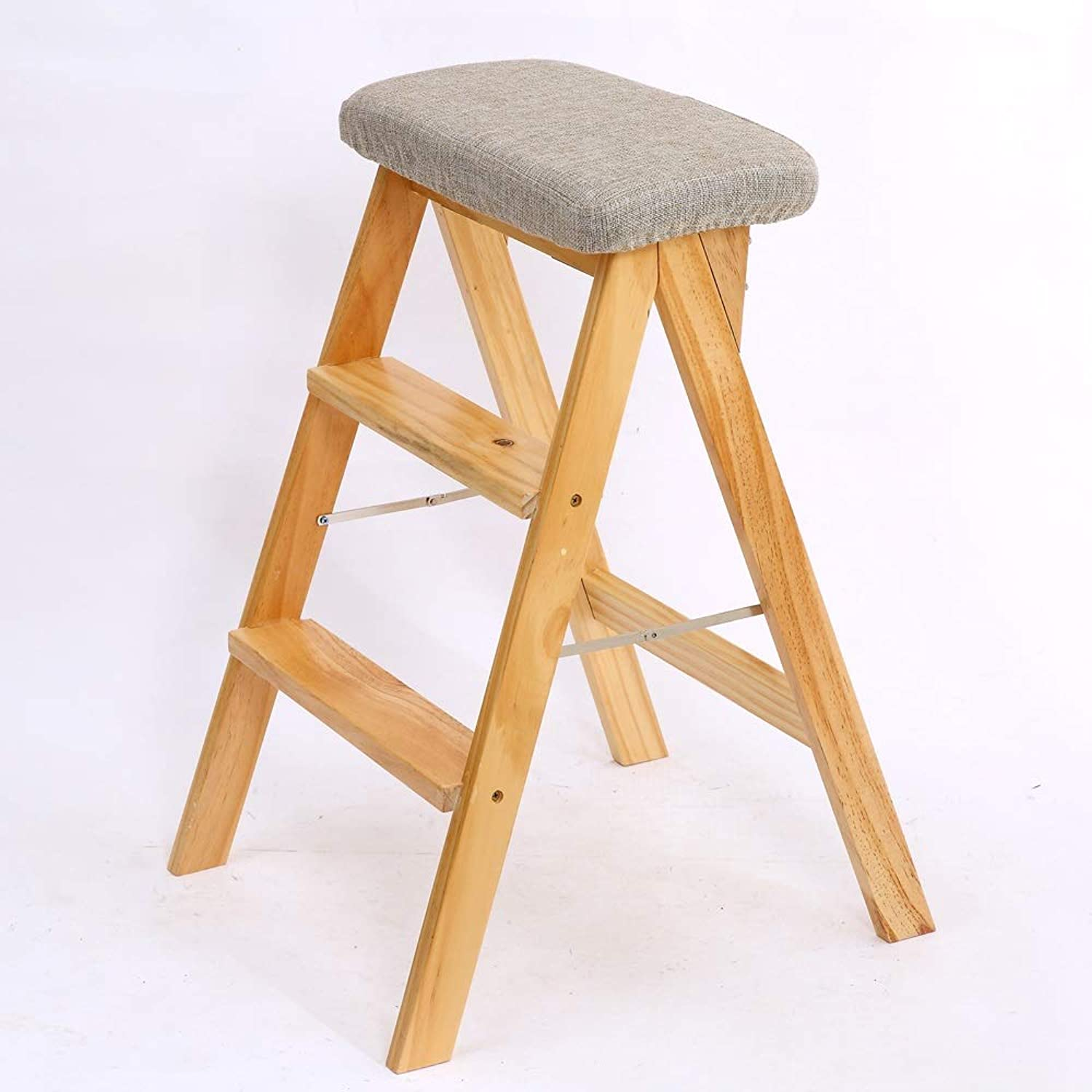 2 Step Stool, Foldable and Easy to Store Kitchen Stool, Home Stool, High Stool (color   A)