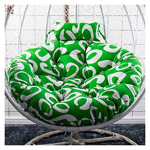 LLNN Home Decoration Swing Chair Cushion Thick Nest Hanging Chair Back with Pillow Hanging Egg Hammock Chair Cushioning for Indoor or Outdoor, Diameter 120cm Hanging Basket Furniture Cushion