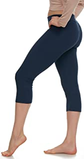 Extra Soft Capri Leggings with High Waist - 20 Colors Packs - Plus