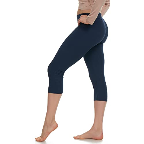 d36092255bbfc Extra Soft Capri Leggings with High Yoga Wast - 20 Colors - Plus
