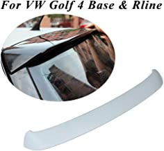 JC SPORTLINE Golf 4 Top Spoiler, fits Volkswagen VW Golf 4 MK4 Base 1998-2004 Unpainted Primer Rear Roof Spoiler Wing Lip(Non GTI&R)