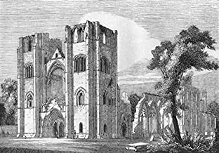 SCOTLAND. Cathedral of Elgin - 1845 - old print - antique print - vintage print - Scotland art prints