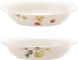 NARUMI(ナルミ) グラタン皿 セット ルーシーガーデン 長径22cm 2個セット 電子レンジ オーブン対応 日本製 41630-33321