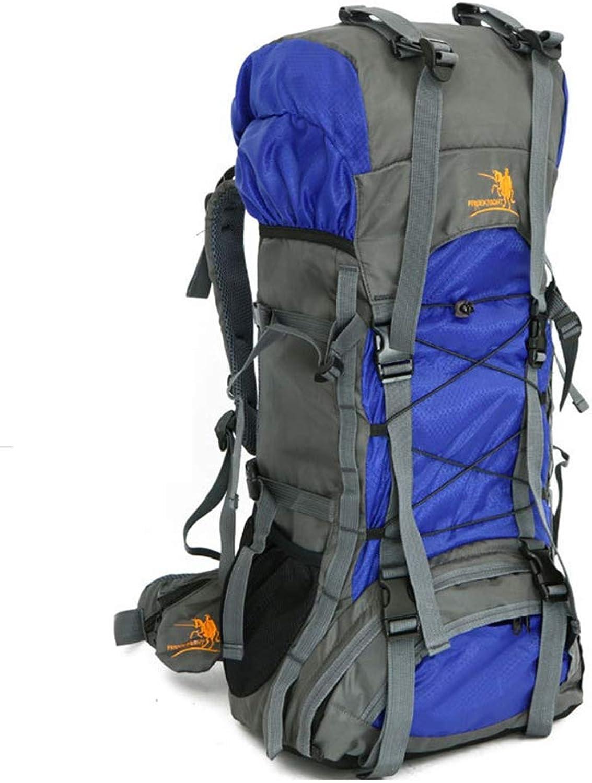 Suyifan Bergsteigerrucksack 60L Outdoor Schultersporttasche wasserdicht Oxford Bergsteigerrucksack Wanderrucksack