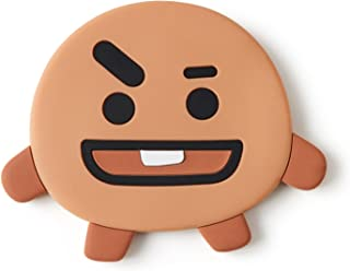 BT21 Official Merchandise by Line Friends - SHOOKY Character Silicon Hand Mirror, Brown