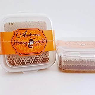 Natural Pure Raw Honeycomb Squares 100% Organic Just Fresh From Bee 300 g