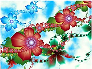 Meet&sunshine Beatiful Flower Embroidery Paintings,Rhinestone Pasted DIY Diamond Painting Cross Stitch (E)