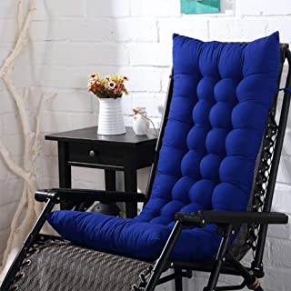 UKSAT Lounge Cushions, Solid Color Sun Lounger Cushion Pads Replacement Garden Patio Thick Chair Recliner Relaxer Pad Outdoor Seating Cover(Royal Blue)