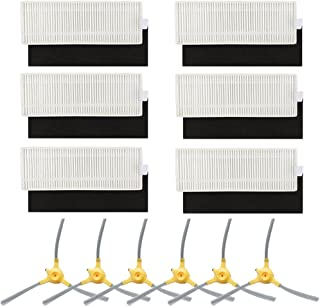 BBT BAMBOOST Replacement Parts Fit for Robovac 11+ & 11Plus Vacuum Cleaner Accessories - Filters and Side Brushes (Pack of 12)
