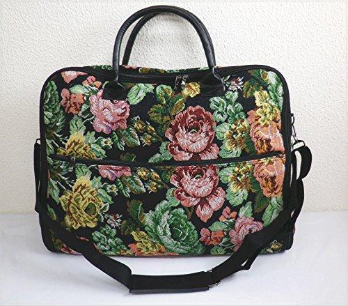 バッグ ゴブラン織地 黒地可憐花 和装 着物 きもの 和洋兼用