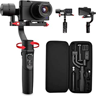 Hohem All in 1 3-Axis Gimbal Stabilizer for Compact Cameras/Action Camera/Smartphone w/ 600° Inception Mode, 0.9lbs Payloa...