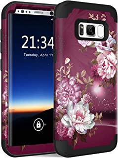 Hocase Galaxy S8 SM-G950 Case, Heavy Duty Protection Shock Absorbing Silicone Rubber Bumper+Hard Plastic Shell Hybrid Dual Layer Protective Case for Samsung Galaxy S8 5.8