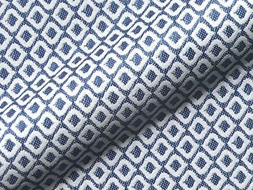 Möbelstoff Outdoor SARDINIEN 745 Muster Abstrakt blau weiß als robuster Bezugsstoff, Polsterstoff zum Nähen und Beziehen für Außen und Innen mit Fleckschutz