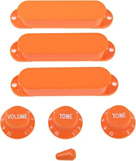 Kmise ピックアップノブセット 3*ピックアップカバー 1*スイッチ 1*音量ノブ 2*音調ノブ  (MI0292)
