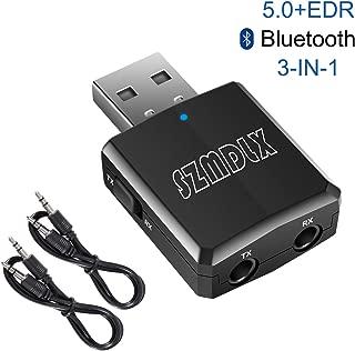 【最新版】 Bluetooth5.0 アダプタ Ver5.0+EDR オーディオ レシーバー トランスミッター 受信 送信 SZMDLX 一台三役 高音質 ドライブのインストール不要 超小型 日本語取扱説明書付き