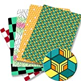 CMTTOME Patchwork-Stoff, Cartoon-Anime-Druck,