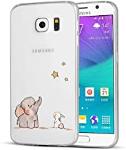 AIsoar Samsung Galaxy S6 Case, Clear Soft Silicone Skin Cover Slim Flexible TPU Watercolor Flowers Floral Printed Back Cover for Samsung Galaxy S6 multicolored TPU