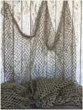 COLIBROX Fishing Net 5'x10' ~ Commercial Fish Netting ~ Old Vintage Decor