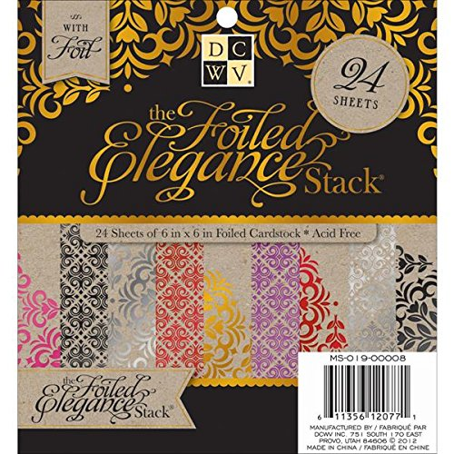"Die Cuts With a View Paper Stack 6""X6"" 24/Pkg-Foiled Elegance"