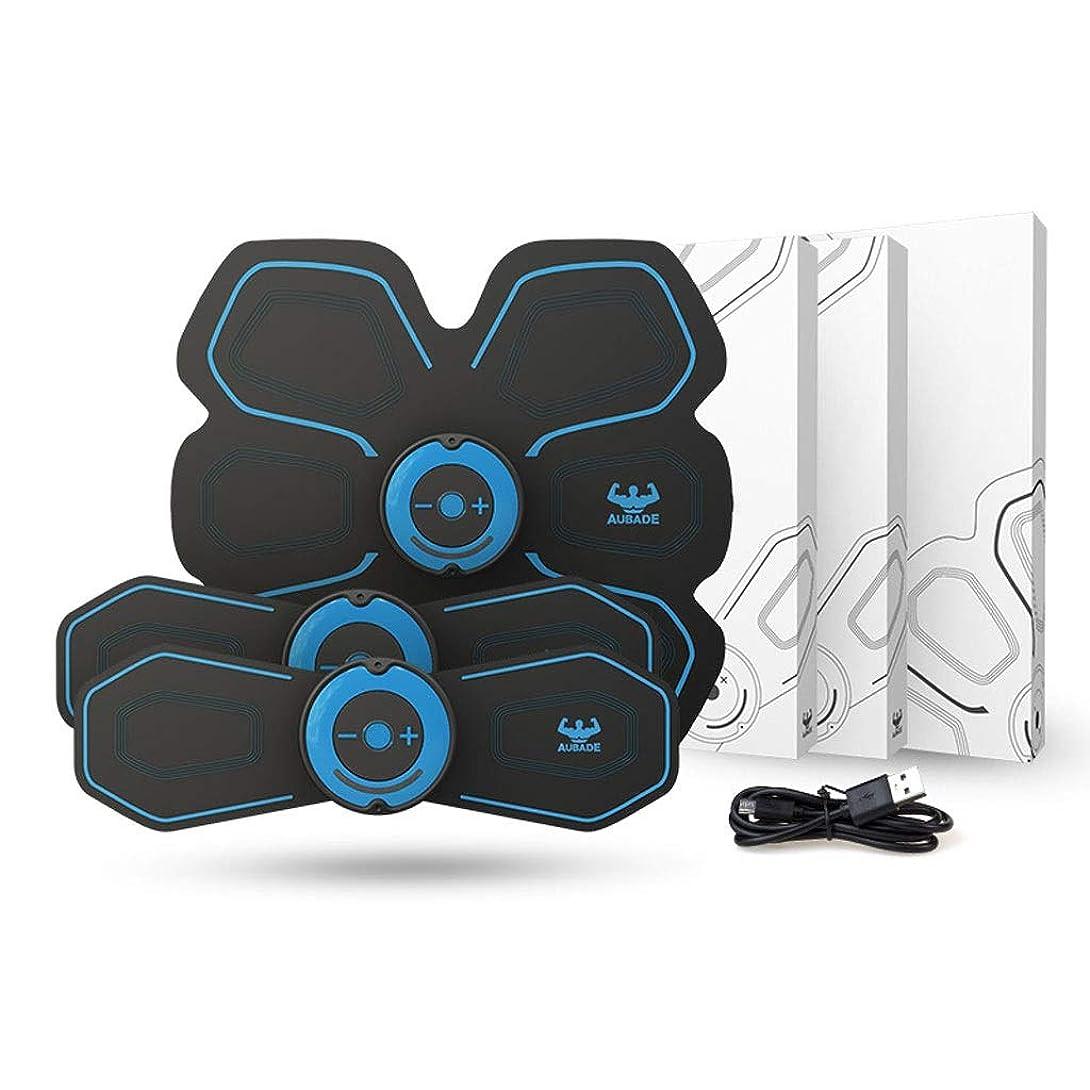 楽観的脳球体Hua Si Daスマートベルト腹部楽器腹部筋肉ペースト男性と女性筋肉トレーニング器具腹部怠惰な腹部筋肉フィットネス機器 (Color : Blue, Size : A+2B)