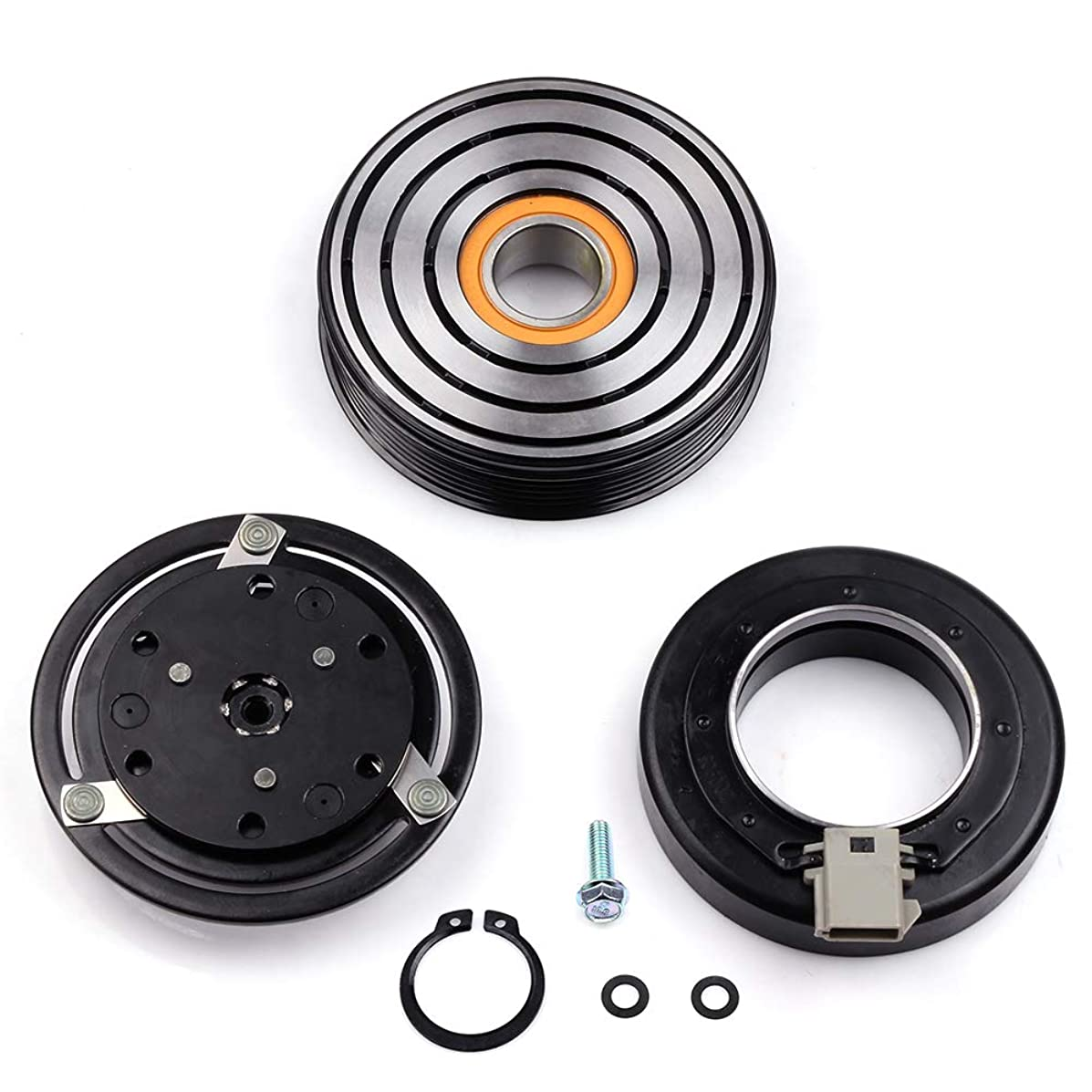 SCITOO Compatible with AC Compressor Clutches Repair Set CO 101410C Auto Compressor Clutch Assembly Kit for Mercury Sable Ford Bronco F-250 F350 F53 Mustang Taurus 1993-2004