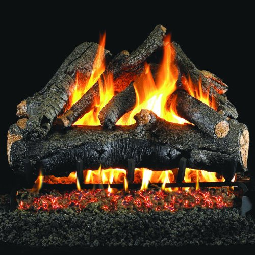 New Peterson Real Fyre 24-inch American Oak Gas Log Set With Vented Propane Ansi Certified G46 Burne...