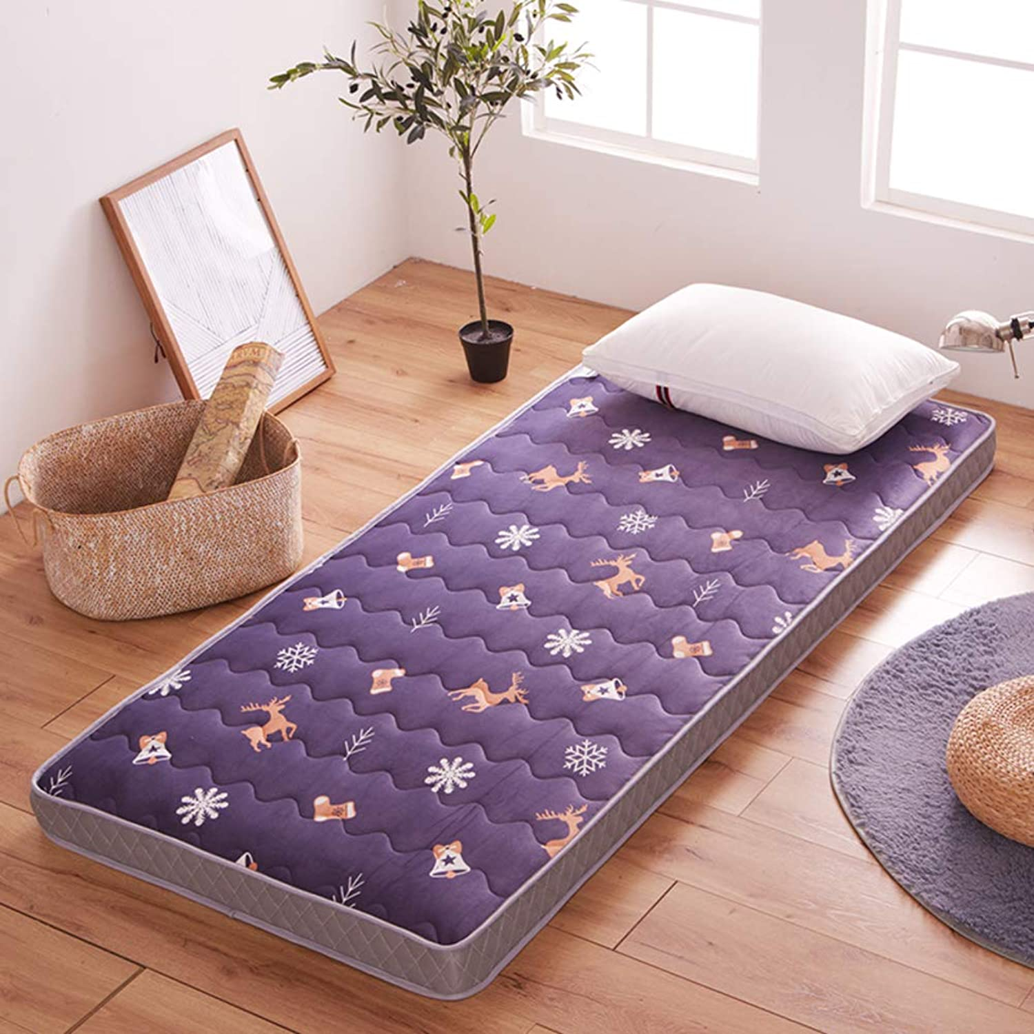 Thicken Bed mattress Sleeping pad Quilted fitted, Tatami mattress Non-slip Japanese floor futon mattress Foldable Roll up Mattress pad Easy to carry Student dormitory Breathable-G 120x200cm(47x79inch)