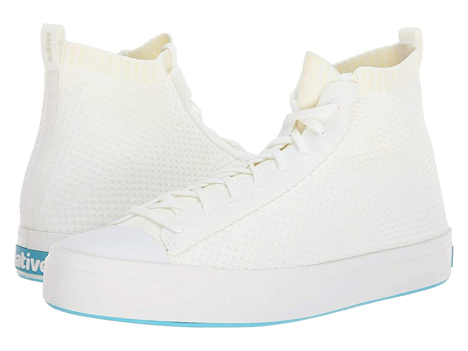 Native Shoes Jefferson 2.0 High (Shell White/Shell White) Lace up casual Shoes
