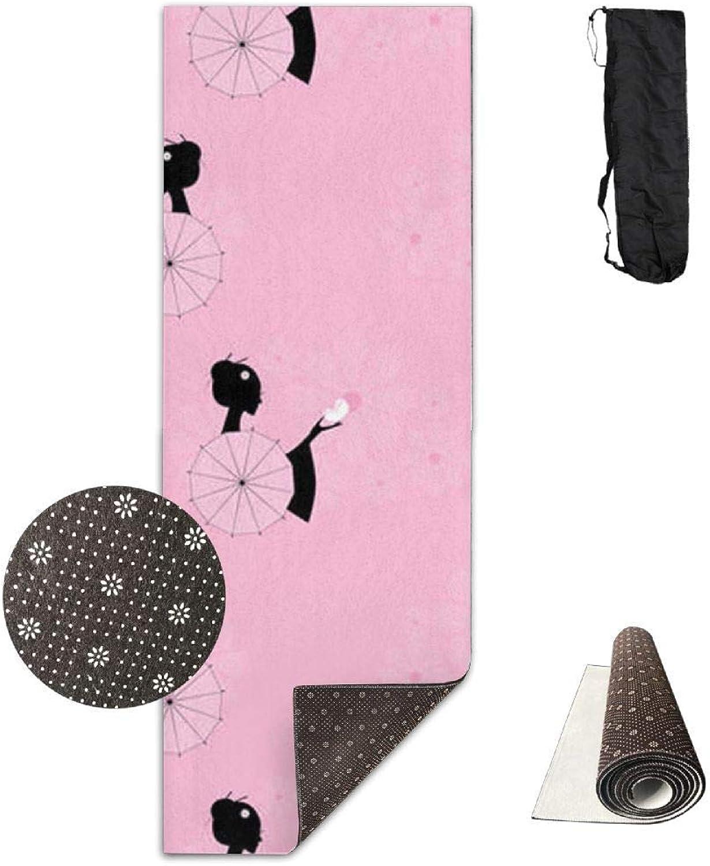 70Inch Long 28Inch Wide Comfort Velvet Yoga Mat, Oriental Artist Mat Carrying Strap & Bag