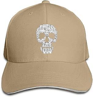 Adult Cats Skull Cotton Lightweight Adjustable Peaked Baseball Cap Sandwich Hat Men Women