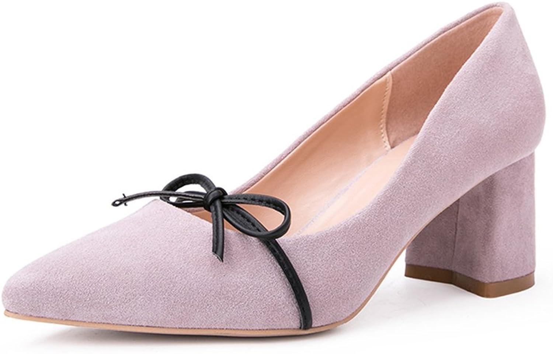 YIXINY Pumps W73104 Frühling Und Herbst Koreanische Version Mode Bowknot Rau Schuhabsatz Seicht Mund Damen High Heels (gre   EU37 UK4.5-5 CN37)