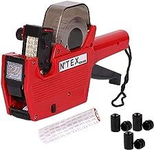 Price Gun Label High Definition Single Row Marking Machine, 8 Bit Marking Machine, Warehouse Supermarket, for Free 10 Rolls of Label Paper and 3 Ink Cartridges (Red)