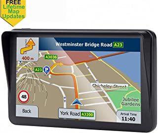 7-inch GPS for Car, 8GB Free Lifetime Map Update Spoken Turn-to-Turn Navigation System for Cars, Portable Sat-Nav
