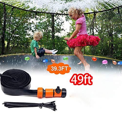 RUIZHI Trampoline Sprinkler For Kids Outdoor Trampoline Water Sprinkler Yard Toys For Boys Girls Summer Fun(Size:12m-39.3ft)