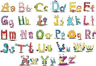 ufengke Cartoon Animal Alphabets Wall Decals DIY Removable Vinyl Wall Stickers Art Decor for Kids Nursery Bedroom