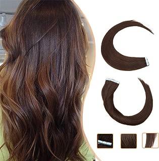 Extensiones Adhesivas de Cabello Natural Pelo Natural Humano Balayage sin Clip Tape in 100% Human Hair Lisa [ 1.5g * 20 Piezas] - 14