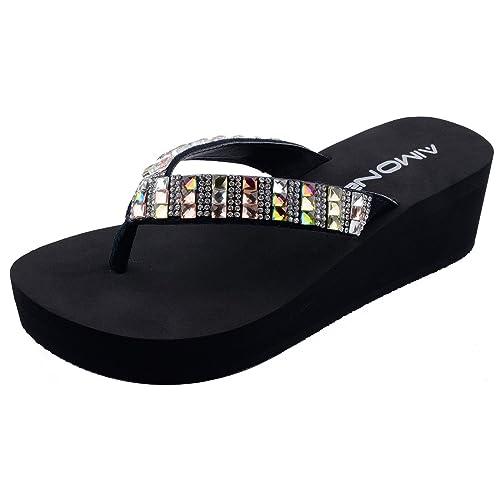 5b949188ad1f6 Flip Flops with Bling: Amazon.com