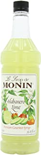 Monin Flavored Syrup, Habanero Lime, 33.8-Ounce Plastic Bottles (Pack of 4)