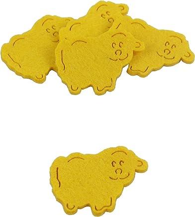 Kreativknoten 30 Teile Streudeko//mit liebevollen Details perfekt zum Schm/ücken und Basteln//Motiv Elefant Gelb