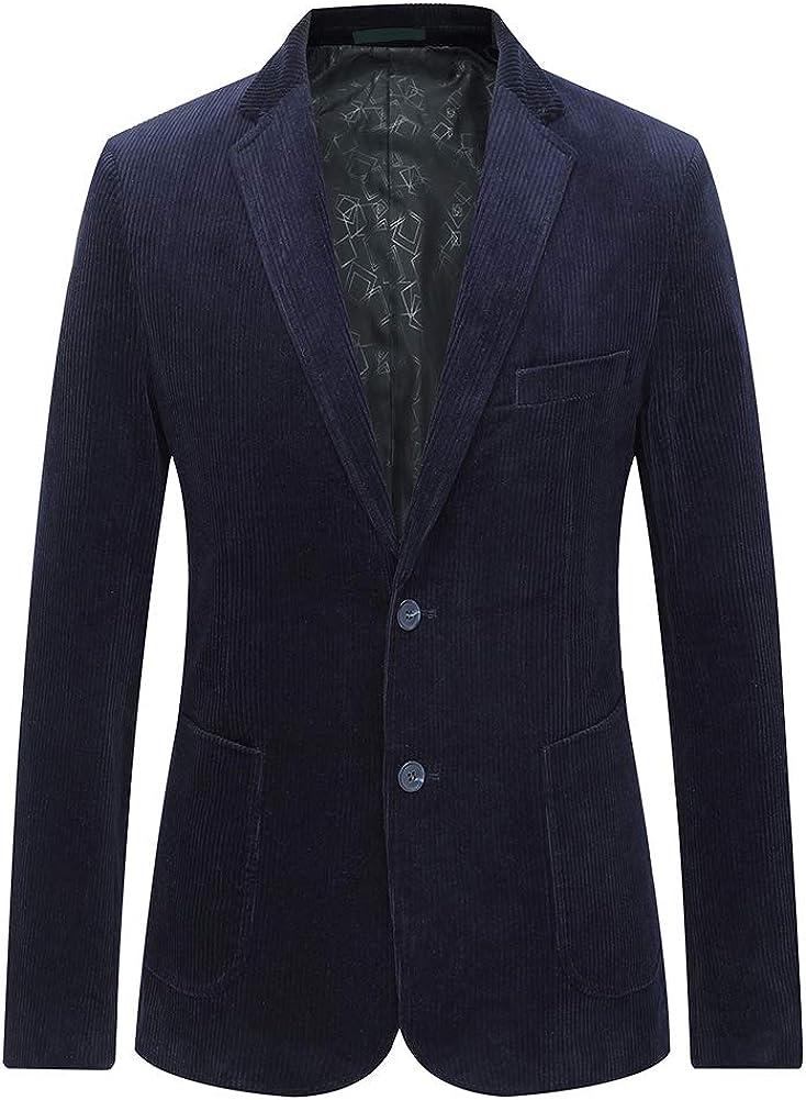 Mens Corduroy Suit Blazer Luxury Dress New popularity Button store Modern 2 Fit Casua