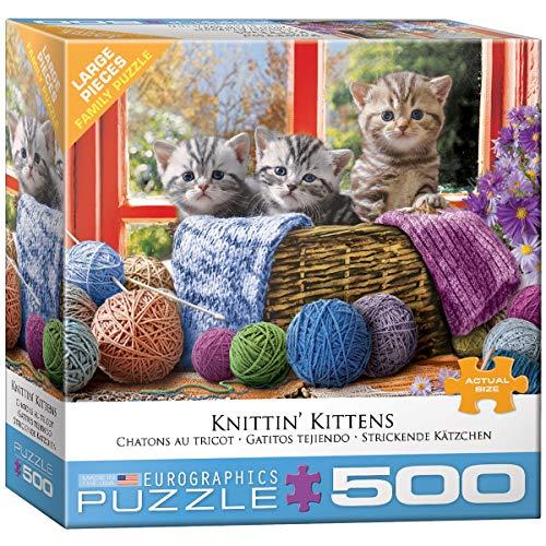 EuroGraphics Knittin' Kittens Puzzle de 500 Piezas