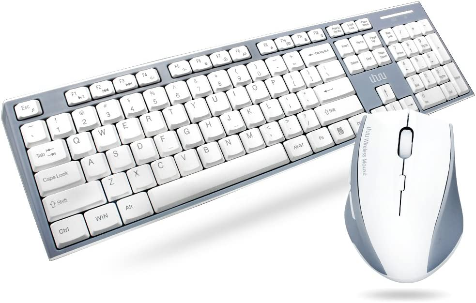Wireless Keyboard Los Angeles Mall and Mouse Compact Be super welcome 2.4GHz UHURU Keybo
