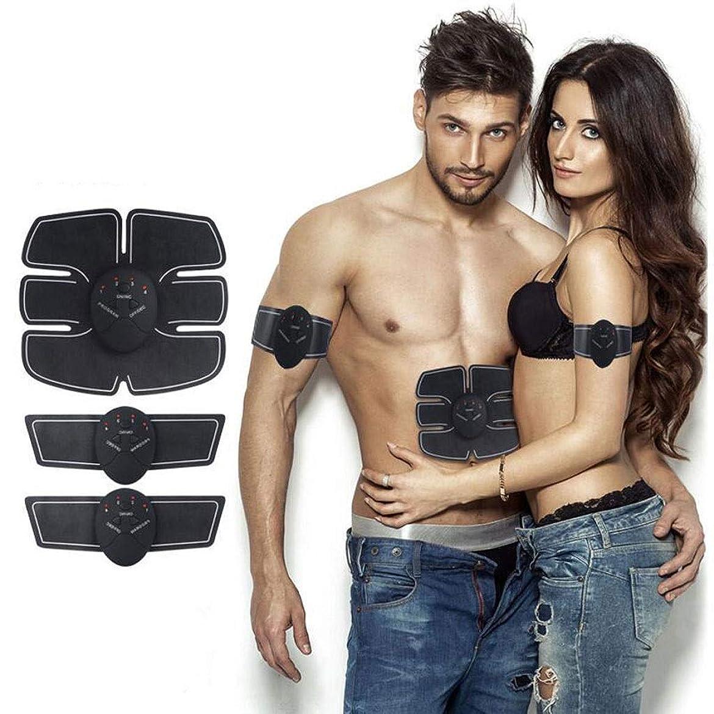真似る侮辱要塞腹部筋肉トナーems筋肉刺激装置電子筋肉トレーナースマートウェアラブルホームabsトレーナー用男性女性スマートボディビルディング