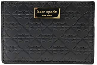 Kate Spade New York Graham Embossed Wallet Business Card Holder Credit Card Case Black ,Small