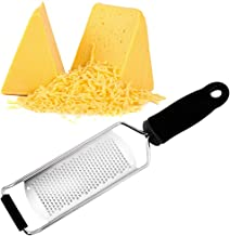 Stainless Steel Lemon Zester & Cheese Grater - Great For Parmesan Cheese, Chocolate, Ginger, Garlic, Nutmeg With Protective Cover