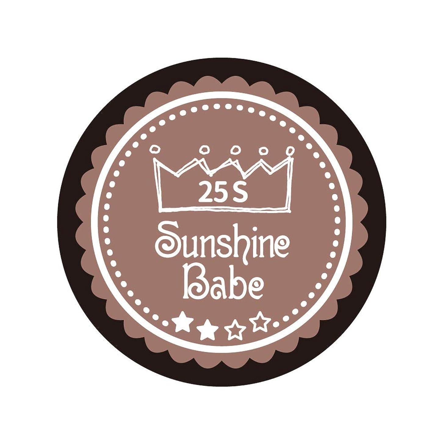 嵐の準備一緒Sunshine Babe コスメティックカラー 25S ミルキーココア 4g UV/LED対応