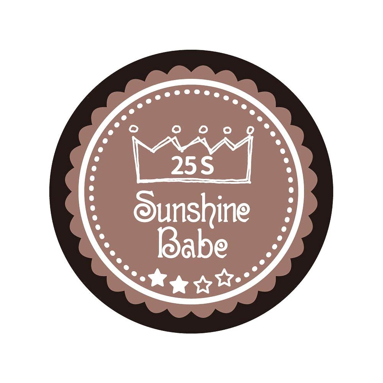 魅力的であることへのアピール手入れ位置するSunshine Babe コスメティックカラー 25S ミルキーココア 4g UV/LED対応
